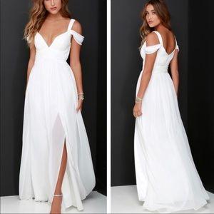 Lulu's Ocean Of Elegance Ivory Dress